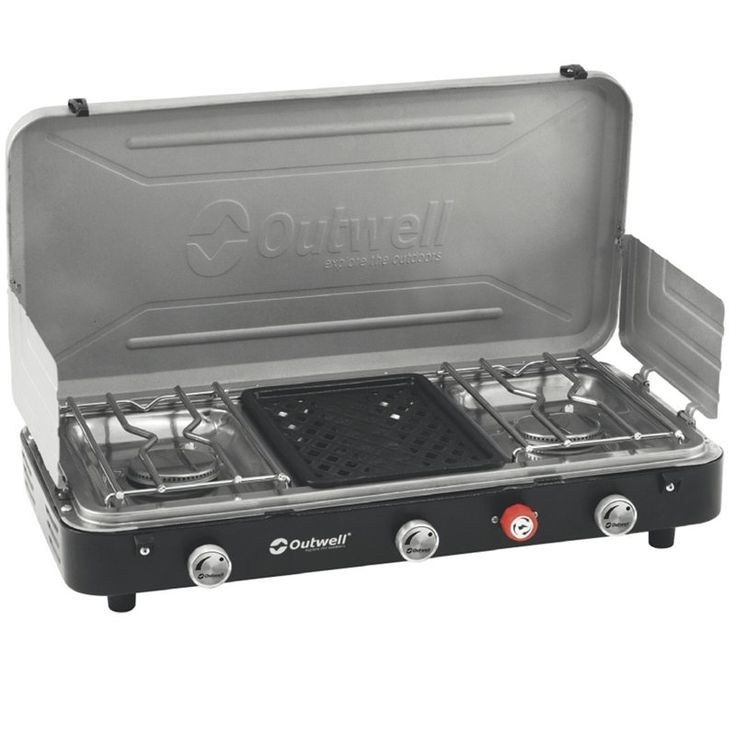 Outwell chef cooker 3 burner stove w grill 2014 Cocinilla a gas 1 plato