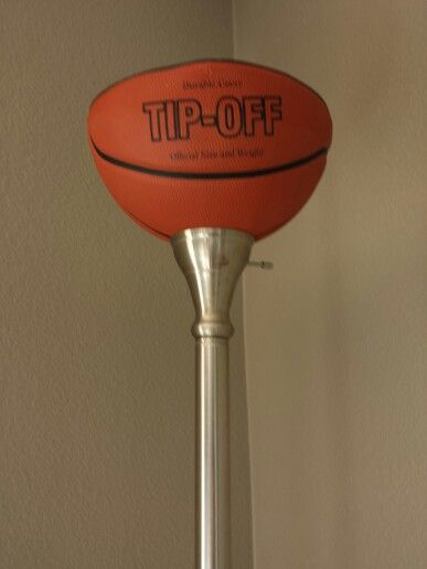 Lamp, Recycled Basketball
