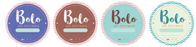 Etiquetas ou Adesivos para Bolos no Pote Grátis! Baixe e Imprima em casa.