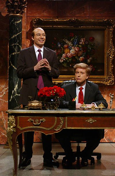 LIVE Episode 9 Air Date Pictured Jimmy Fallon as Jeff Zucker Darrell Hammond as Donald Trump during the 'Donald Trump's Address' skit on January 10...