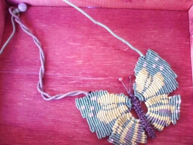 green butterfly necklace