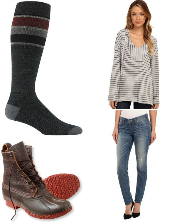 Soft Joie tunic top / True Religion jeans / Wigwam socks / LL Bean duck boots