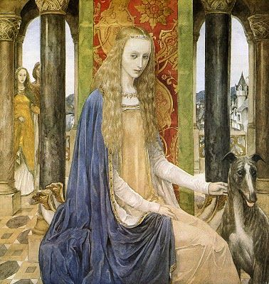 The lady and the fountain-Alan Lee-Mabinogion