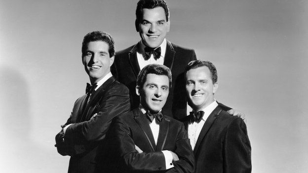 Frankie Valli On Hair Products And Finding His Falsetto - The Four Seasons pose for a portrait circa 1963 in New York City. They are, clockwise from the top, Nick Massi, Tommy DeVito, Frankie Valli and Bob Gaudio.