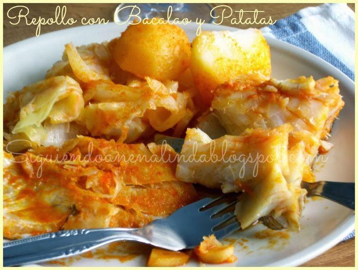 Siguiendo a Nenalinda: Repollo con Bacalao y patatas ....