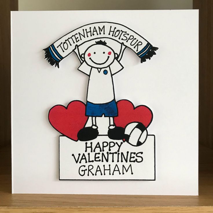 A personal favourite from my Etsy shop https://www.etsy.com/uk/listing/588084463/tottenham-hotspur-football-valentine