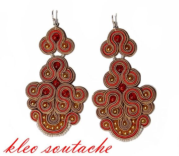 soutache- use of red accent braid