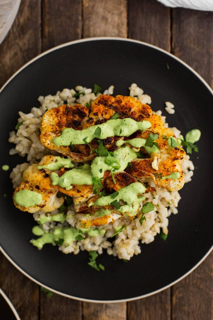 A perfect vegan dinner, cajun cauliflower is grilled with cajun seasoning then…