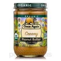 Organic Manteiga De Amendoim Cremosa (sem Adição De Sal) -