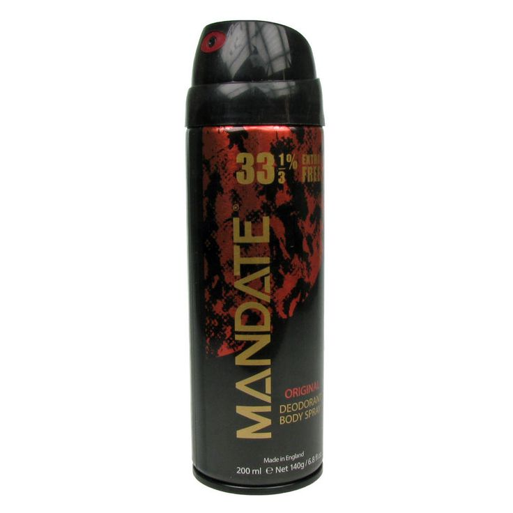 mandate deodorant  | Mandate Original Mens Deodorant Body Spray 33% Extra Free…