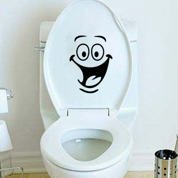 Big mouth Smile  WC stickers Wall decorations diy vinyl adesivos de paredes home decal mual art waterproof toilet Sticker poster