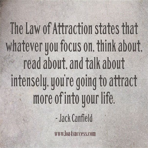 The Law of Attraction states that whatever you focus on think about read about Famous Quotes For Success