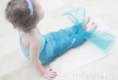 die kleine Meerjungfrau - Flosse aus zartem Tischläufer/ little mermaid - just a organza table runner