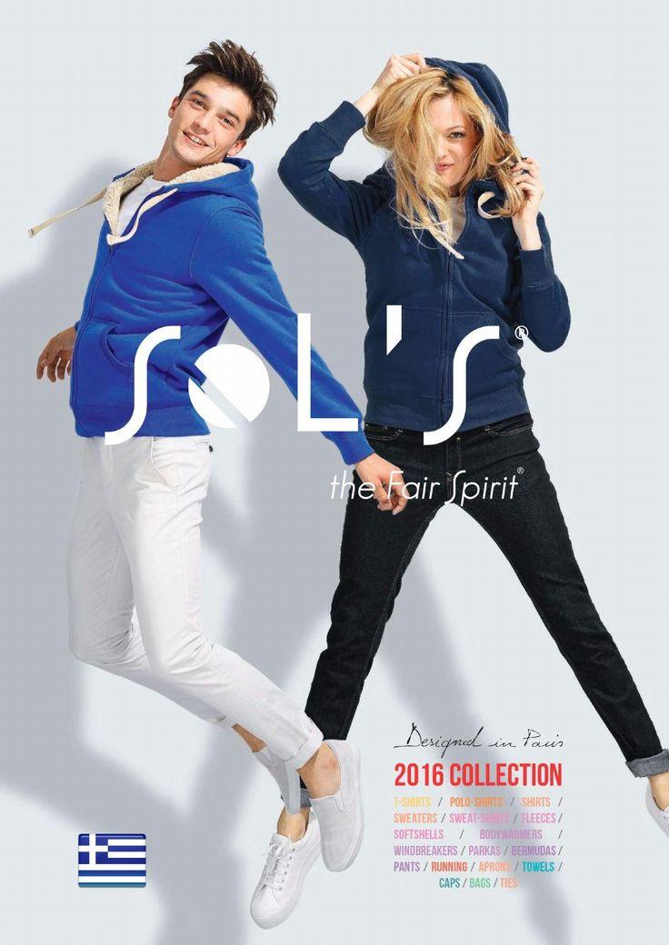 Sol's. Ρούχα αθλητικά και εργατικά, τσάντες, πετσέτες, αξεσουάρ, καπέλα κ.α (ανδρικά, γυναικεία, παιδικά). 2 online κατάλογοι - Νέα κολεξιόν Sols 2016. http://www.helppost.gr/katalogos/sols/