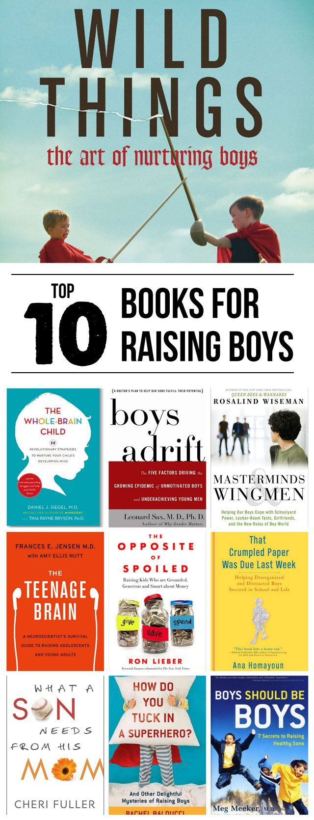 Top 10 Books for Parenting Boys - This is such a great list, #3 and #5 are going on my audiobooks list! | modernparentmessykids #Books #Parenting_Boys