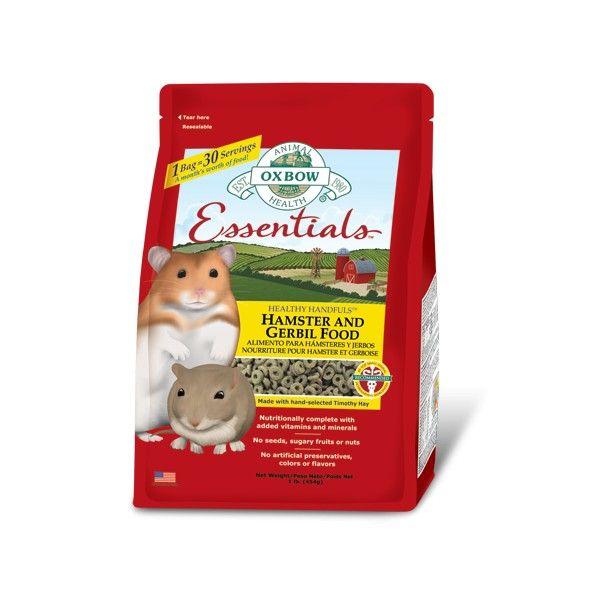 Oxbow Hamster and Gerbil Food är ett foder av högsta kvalitet, framtaget för att tillgodose näringsbehoven hos hamster och gerbil. Rekommenderas av veterinärer.