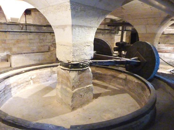 Le pressoir à cidre de l'Abbaye aux hommes de Caen.