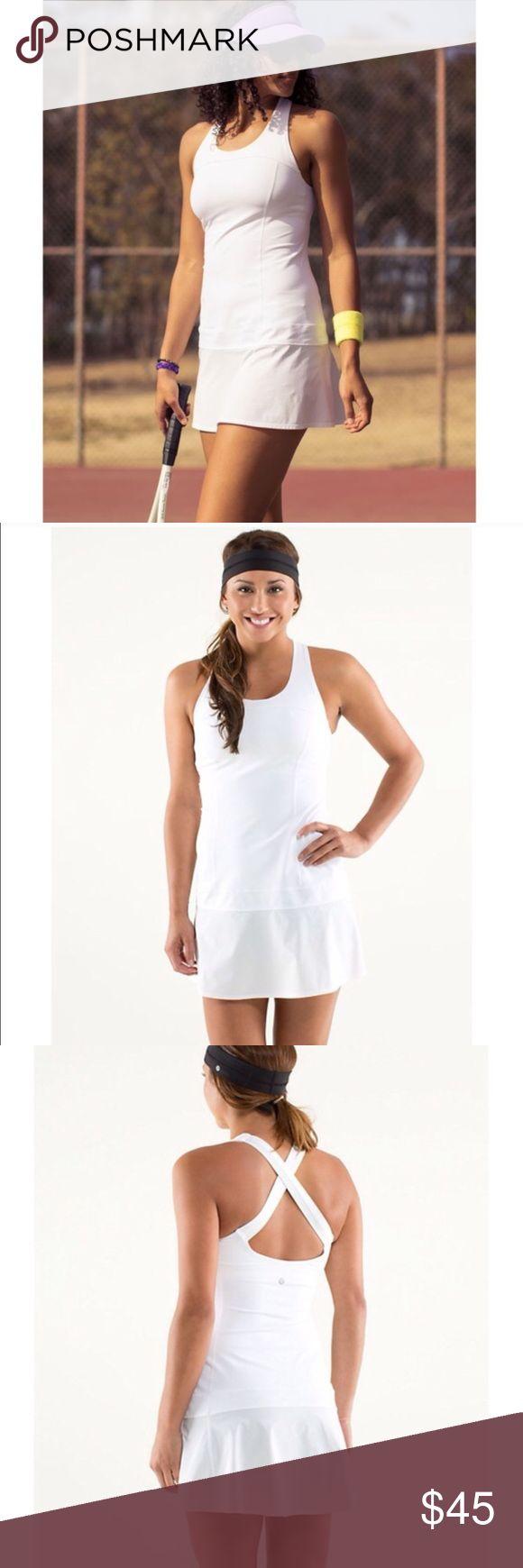 Lululemon dress Tennis dress. No flaws. Awesome condition. Built in bra. lululemon athletica Dresses
