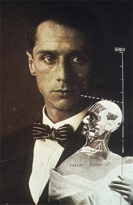 Max Ernst. Collage, 1920.Le Punching Ball ou l'Immortalité de Buonarroti, 1920. Photomontage, gouache, et encre sur photographie. 1920.