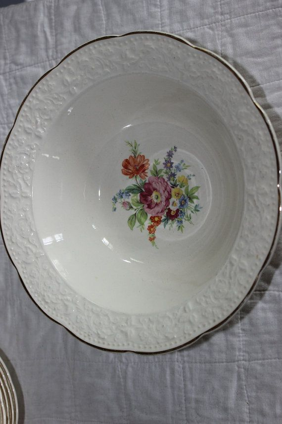 Knowles Serving Bowl Floral 1940s from by AmeliesFarmhouse on Etsy, $11.00