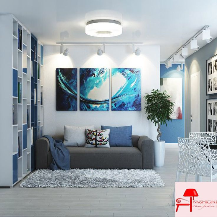 Mavi Beyaz İç Mekan Dekorasyonu | Fashion Decoration, Home House Decoration Style