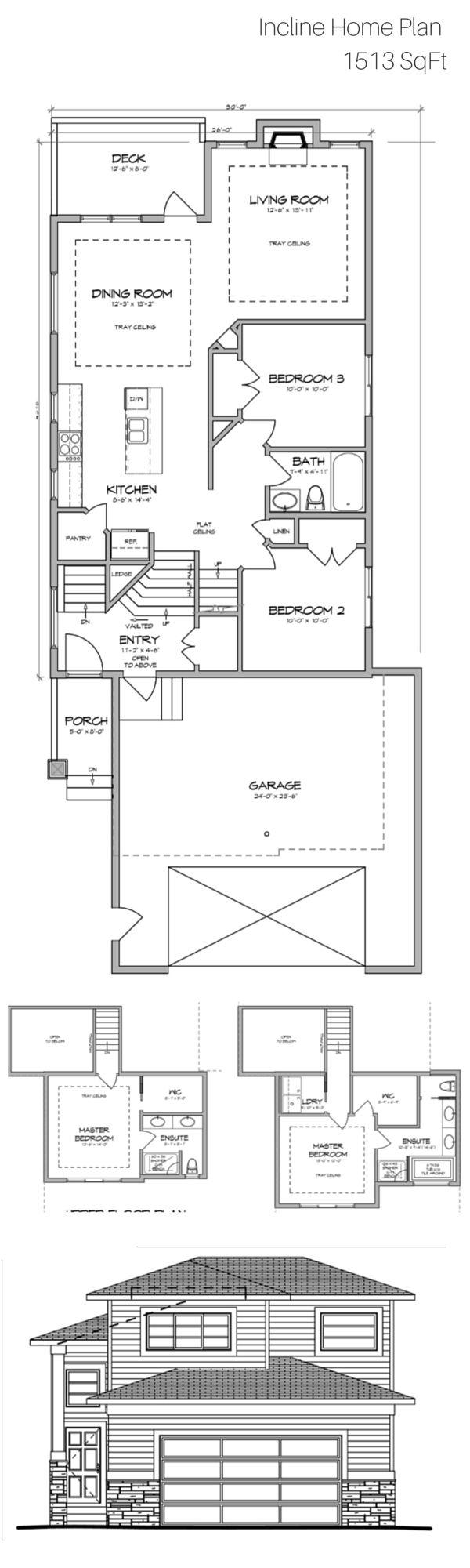Modified bi level homes floor plans for Modified bi level plans