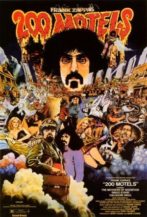 """200 Motels 11x17 Movie Poster (1971). CAST: Ringo Starr, Theodore Bikel, Keith Moon, Janet Ferguson, Lucy Offerall; DIRECTED BY: Frank Zappa; WRITTEN BY: Frank Zappa; CINEMATOGRAPHY BY: Gillian Lynne; MUSIC BY: Frank Zappa. PRODUCER: Murakami Wolf Productions, Inc. Features:    11"""" x 17""""   Packaged with care - ships in sturdy reinforced packing material   Made in the USA  SHIPS IN 1-3 DAYS"""