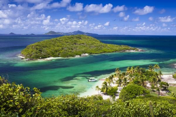 What a great place to go sailing! The captain of Mandalay calls this his favorite view in all of the Caribbean. He'll lead us to this spot after an epic lunch on the beach. You'll need a frame for this shot. Book now.  The Islands   Islands