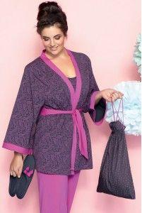 Set Maman: pyjama, peignoir et chaussons