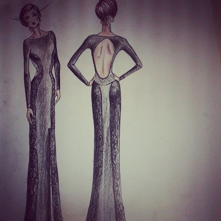 Fashion illustration for A Molteno client by Rose Molteno #fashion #clothes #gown #fashionillustration #drawing