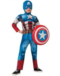 Kostuum van Captain America The Avengers Assemble deluxe voor jongens
