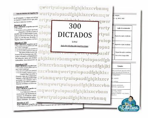 300 dictados  es una fabulosa recopilación de trescientos dictados para Educación Primaria realizada por el Aula de Adultos de Cogollo...