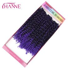 """HANNE 10"""" Short Jerry Curl Crochet Braids Hair Extensions 3pieces/lot 9 Colors Synthetic Freetress Braiding 2 lots for full head //FREE Shipping Worldwide //"""