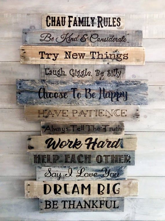 Personalized Family Rules Custom House Rules Sign Large Wood Wall Family Room Decor Includes Twe Family Rules Sign House Rules Sign Personalized Family Rules