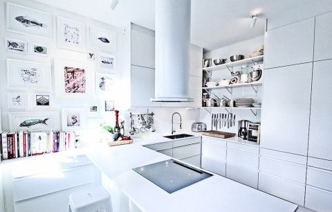 Bright and white Swedish kitchen by Mood House 1