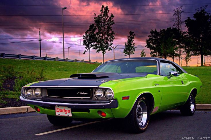 DODGE CHALLENGER: circa. early 70's Decked out in OEM lime ...