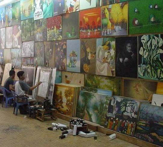 Artists at work in Phuket, Thailand