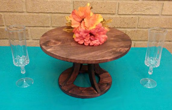 Wedding Cake Stand Reclaimed wood Custom by MittenMadeWeddings