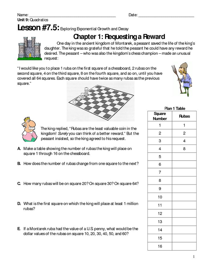 Worksheets Exponential Growth And Decay Worksheet 25 best images about exponential growthdecay on pinterest page 1 unit 9 lesson 7 5 growth and decay explorations king peasant
