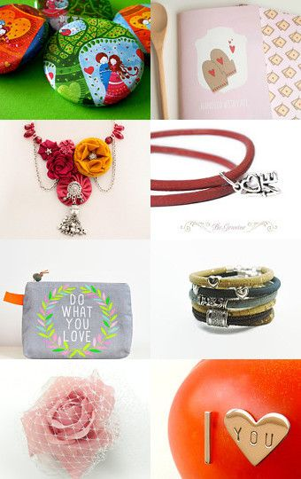 Valentine for Her by Mandarina on Etsy--Pinned with TreasuryPin.com