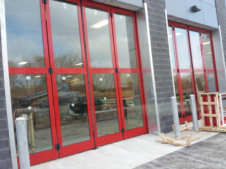 Richards Wilcox Bi-Folding Door Systems installed by Wilcox Door Service Inc.