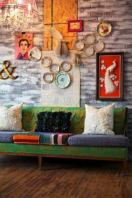 Eclectic decor.