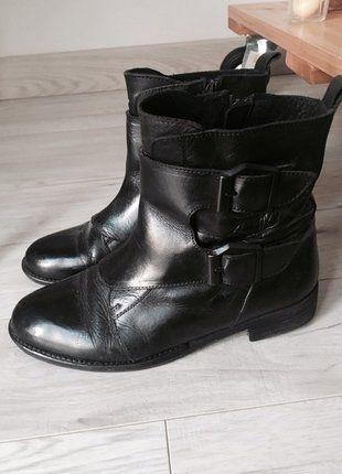 Kup mój przedmiot na #vintedpl http://www.vinted.pl/damskie-obuwie/botki/15636004-czarne-botki-mohito-rozmiar-37-super-na-jesien-skora-naturalna