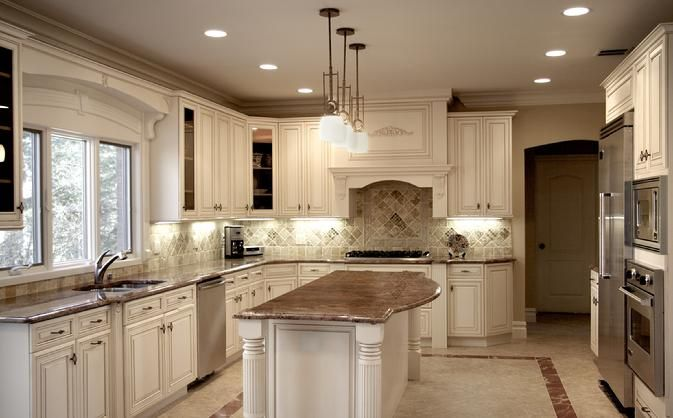 Beautiful What Color Countertop With Signature Pearl Cabinets   Google Search
