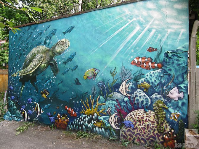 underwater street art - Google Search | Things I can paint ...
