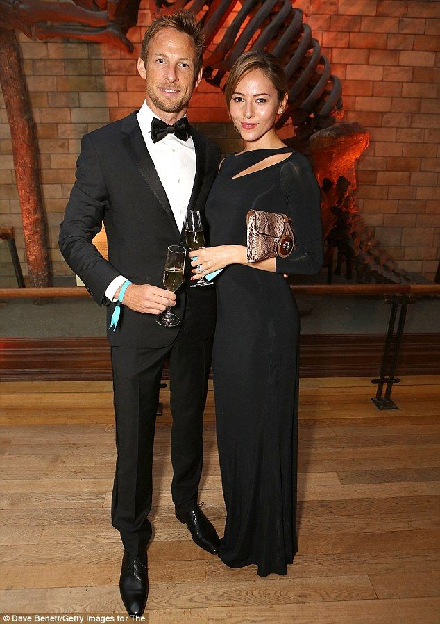 Victims: Jenson Button and his wife Jessica Michibata, pictured, were gassed at their luxury French villa