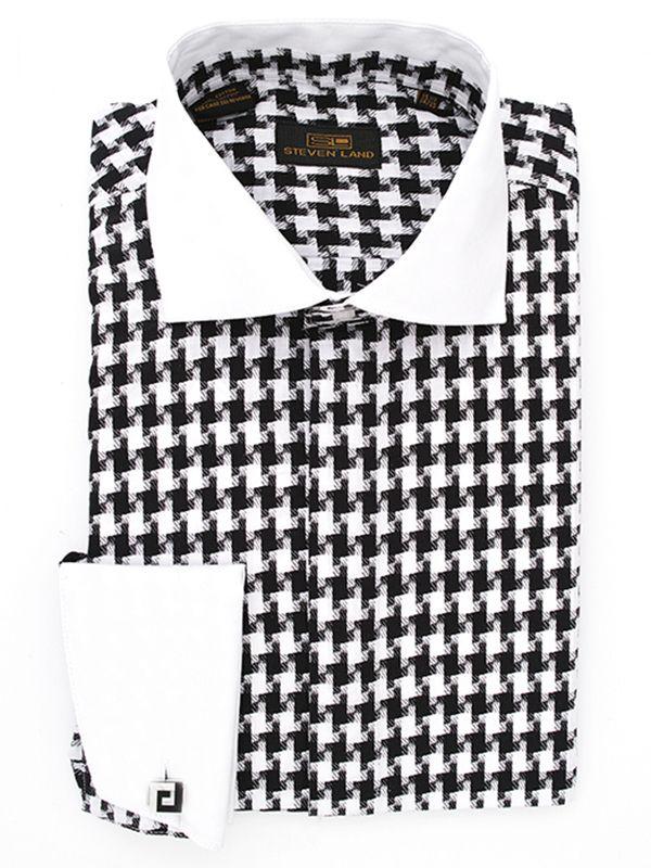 Steven Land Dress Shirts : DS1092   Black