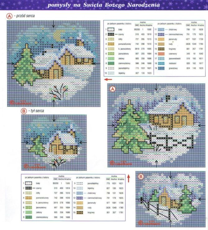 Christmas cottages cross stitch