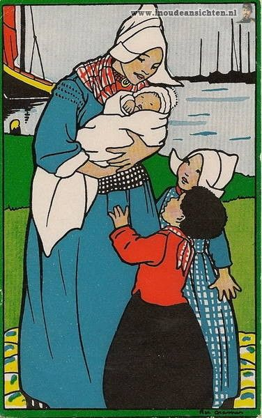 Rie Cramer- Dutch (1887-1977) postcard