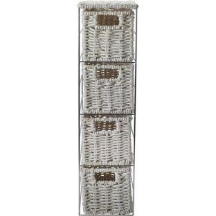 Buy Slimline 4 Drawer Storage Tower - White at Argos.co.uk, visit Argos.co.uk to shop online for Bathroom shelves and units